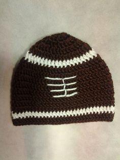 Crochet Football Hat by StitchesforSMA on Etsy, $6.00