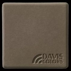 "This is a photo of an actual 3"" x 3"" concrete tile sample integrally colored with Davis Colors' Cocoa (pigment # 6130). This video reproduction is just for ideas. Please finalize your color selection from our printed color card, hard tile samples or job site test."