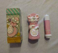 Vintage-Avon-Millicent-Mouse-Finger-Puppet-Pink-amp-Pretty-Fragrance-Demistick
