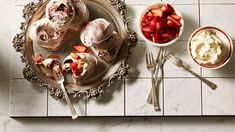Chocolate meringues with vincotto strawberries from SBS food