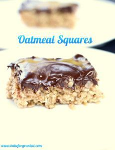 Oatmeal Squares are a gooey and chewy treat that is perfect for back to school…