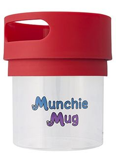 Munchie Mug Snack Cup 16 OZ Red