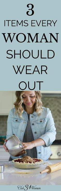 When we practice faithfulness we will see the ways we wear out and break in the things that we're consistent in. It will become evident in the wearing. via @Club31Women