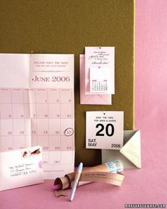 Creative Calendar Cards - DIY Save-The-Dates