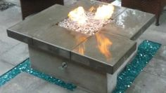 Fire pit with glass accents Glass Fire Pit, Backyard Plan, Diy Fire Pit, Fireplaces, Gardening, Ideas, Home Decor, Fireplace Set, Fire Places