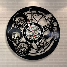 Kingdom Hearts Home Clock Movies Art Vinyl Record Clock Wall Decor Handmade #VinylEvolution #Modern