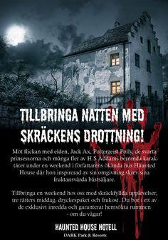 Mordmysterier: Halloweenmordet på Haunted HouseRysligt välkomna till Haunted House! För ett år sedan dog den berömda  skräckromansförfattaren H.S Addams i sitt hem Haunted House. Nu, ett år  senare... #halloweenfest #halloweenparty #mordgåta #mordmysterium #halloween