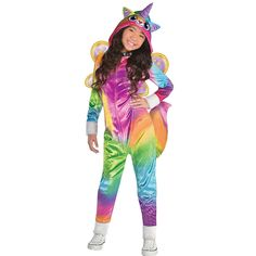9b4082e79fd3 Girls Felicity Costume - Rainbow Butterfly Unicorn Kitty Image #1 Cat  Costume Kids, Cat