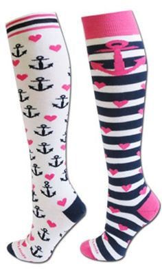 Anchors Away Socks (2 pair) White/Blue/Pink S/M Sports Katz http://www.amazon.com/dp/B00B1CWF36/ref=cm_sw_r_pi_dp_wQJxub0HJFFMG