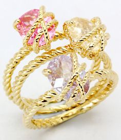 Glitterrings Stackable Candy Stone Rings | Dillard's Mobile
