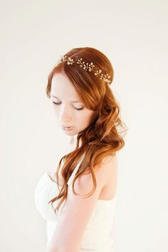 Untamed Bridal Hair piece with Swarovski Crystals by sibodesigns. $132.00 USD, via Etsy.