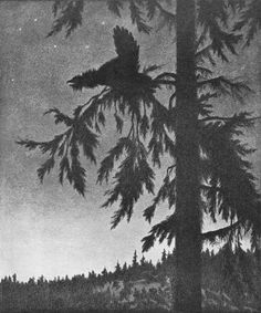 Svartedauen - tiuren spiller 01b - Theodor Kittelsen