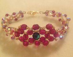 Swarovski  Bracelet. Handmade Crystal Bracelet. Ideal gift for Mothers Day by MariposaByDesign on Etsy