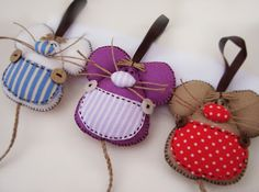 Ideas que mejoran tu vida Felt Diy, Felt Crafts, Fabric Crafts, Diy And Crafts, Sewing Toys, Sewing Crafts, Sewing Projects, Mouse Crafts, Felt Owls