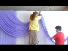 оформление свадебного зала 21 07 12 (Жиздра) - YouTube