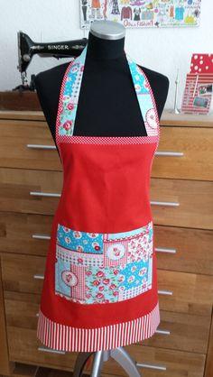 """Schürzen - """"In Rot"""" - Kochschürze - ein Designerstück von XBergDesign bei DaWanda"""