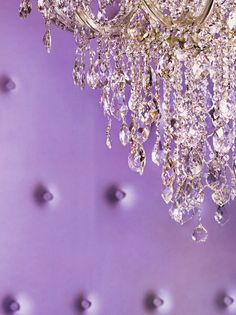Pantone Radiant Orchid chandelier
