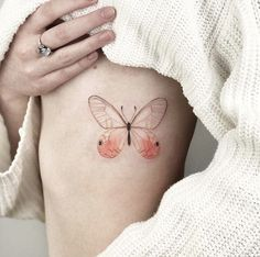 Minimal butterfly tattoo by @nastyafox
