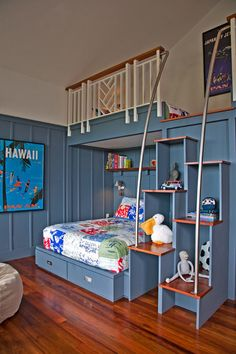 Cool bunk beds will bring joy, originality and uniqueness to your kids' room. First, bunk beds solve the problem with a lack of space if two kids have to