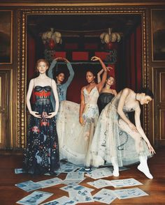 Dior ballerinas strike a graceful note in the latest issue of Bazaar UK sweeping across the room in tulle dresses from #MariaGraziChiuri