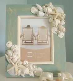 Going to make this with the shells we found at the beach and put our new family pic in it!!
