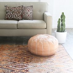 Berber pillow // moroccan pillow // sequins pillows // moroccan leather pouf // beni mguild rug // kilim rug // turkish rug // faded rug