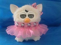 """Outfit for Furby or Furby Boom Handmade Clothes """"Ballerina Hello Kitty"""" 