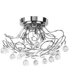 Bathroom Ceiling Lights Toolstation litecraft madrid 5 light semi flush satin chrome ceiling light- at