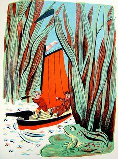 """A Child's Garden of Verse"" by Robert Louis Stevenson, illustrated by Roger Duvoisin, 1944."