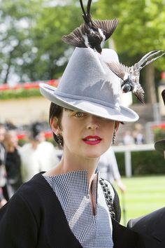 Stella Tennant at the Royal Ascot races.