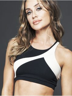 Racer Medium Support Sport Bra in Black blush by Solow from 3e20f02492