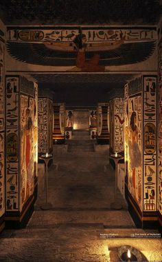 """""""Nefertari's tomb, discovered in 1904 Valley of the Queens Luxor"""" Egyptian Temple, Ancient Egyptian Art, Egyptian Mythology, Egyptian Goddess, Old Egypt, Egypt Art, Ancient Egypt History, Ancient Aliens, Ancient Greece"""