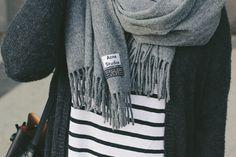 Acne Canada Scarf & Stripes