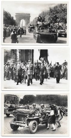 Six Real Photo Postcards Military Men Liberation of Paris, France WWII~103795