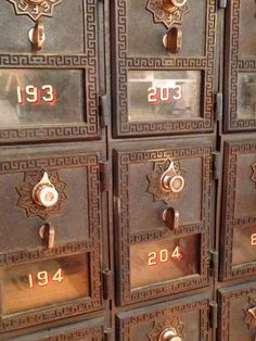 We have a variety of non-phone artifacts to help you put telephone history into context, including these old postal boxes. Warner, NH