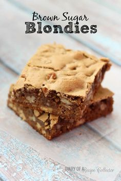 Rich and gooey blondies filled with pecans will make even a chocolate-lover beg for them!