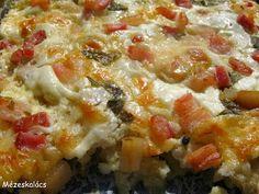 Mézeskalács konyha: Almás-füstölt sajtos rakott csirkemell