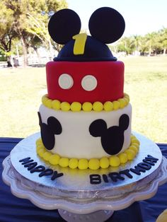 Mickey Mouse cake! Mikey's 1st birthday.