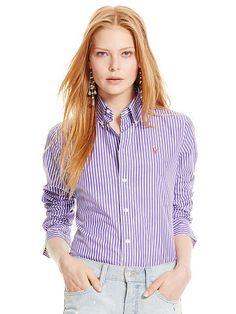 af9aa1d6 Polo Ralph Lauren Custom-Fit Striped Shirt - Polo Ralph Lauren Long Sleeve