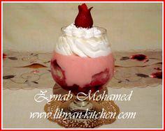 [ ترايفل الفراولة 3 ] من المطبخ الليبي لزينب محمد