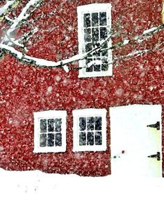 Vermont Red Barn and Snow