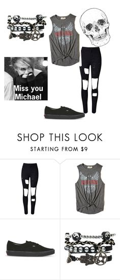 """""""Miss you Michael"""" by metteaadahl on Polyvore featuring WithChic, Hollister Co. and Vans"""