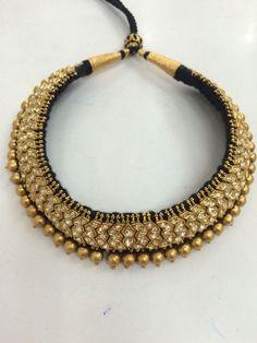 Thusi set Bridal Jewelry, Beaded Jewelry, Gold Jewelry, Statement Jewelry, Ankle Jewelry, India Jewelry, Temple Jewellery, Antique Jewelry, Jewelry Design