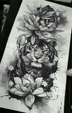 dessins de tatouage 2019 Simply of Beautiful Flower Tattoo Drawing Ideas for Women - Tattoo Designs Photo Buddha Tattoos, Buddha Tattoo Design, Buddha Lotus Tattoo, Tiger Tattoo Design, Mandala Tattoo, Flower Tattoo Drawings, Tattoo Sketches, Tattoo Flowers, Flower Tattoo Sleeves