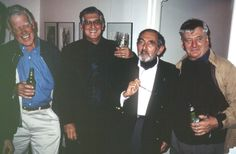 Henry Talbot, Lewis Morley and David Moore photographers at Byron Mapp Gallery Exhibition of his own work, 1998. © Eric Sierins photo.