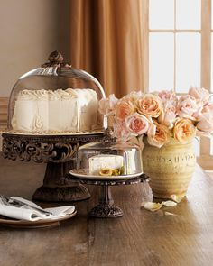 Cake and Cheese/Dessert Domes & Pedestals by GG Collection at Neiman Marcus.