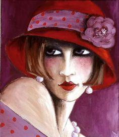 """""""chapeau rouge"""" rétrogirl"""