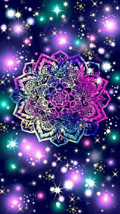 Namaste sparkle galaxy iPhone/Android wallpaper I created for the app CocoPPa!