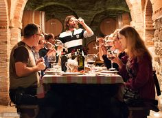 Notes from a Small Tuscan Wine Cellar by Bethany from Beers & Beans http://bluesunshinetravel.com/