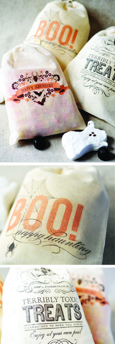Cute trick or treat bags for Halloween but I think these would be cute for favors too!